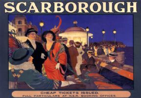 Scarborough, Yorkshire. NER Vintage Travel Poster by J F Woolrich. c1910